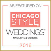 Featured in Chicago Style Weddings Magazine