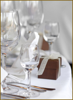 Glasses table setting